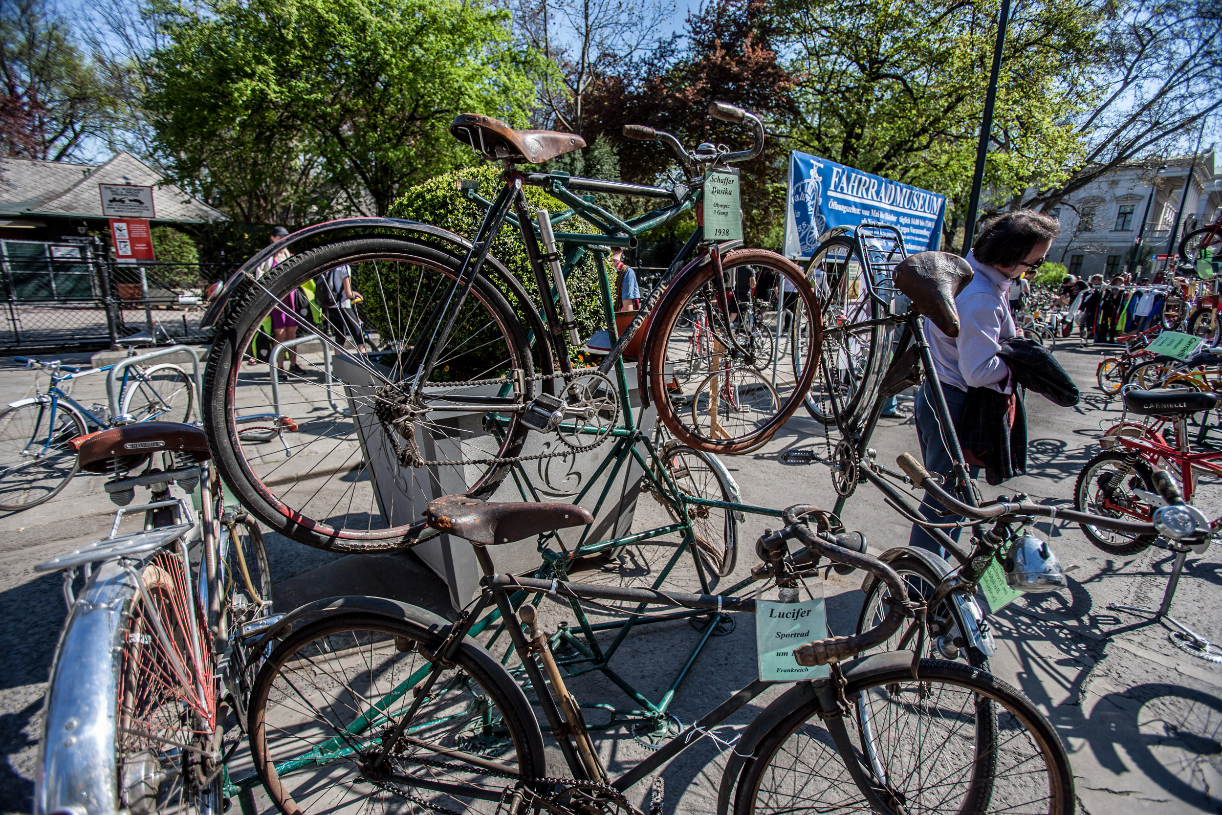 Zu bewundern waren beide Exponate sowie viele andere, alte Räder mehr im bereits traditionellen Histo-Corner.