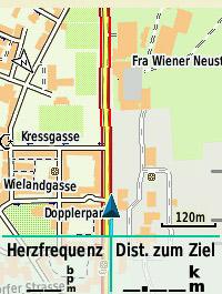 Rot: die Radwege