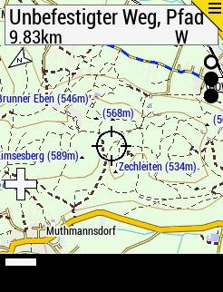 auch auf dem Edge 530 ist jetzt ein Durchsuchen der Karte (Zoom/Pan) möglich