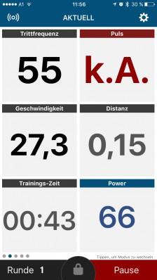 Trainingsscreen 1
