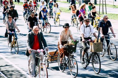 bei der diesjährigen Radparade besonders erwünscht und wurden vor dem Start sogar prämiert.