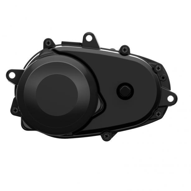 Panasonic 36 V X0 Front-Mount Mountain: Die neueste Generation des X0 Motors bietet 30 % mehr Spitzenleistung und 80 statt bisher 75 Nm Drehmoment und speckt gleichzeitig 1,3 kg ab. Dank Front-Mount-Montage sind kürzere Kettenstreben realisierbar. Mehr Wendigkeit und ?MTB-Handling? sind das Resultat. In der Mountain Version verfügt der Motor über einen speziellen Stator, der höhere Trittfrequenzen, wie sie im MTB-Sport gefordert werden, zulässt.