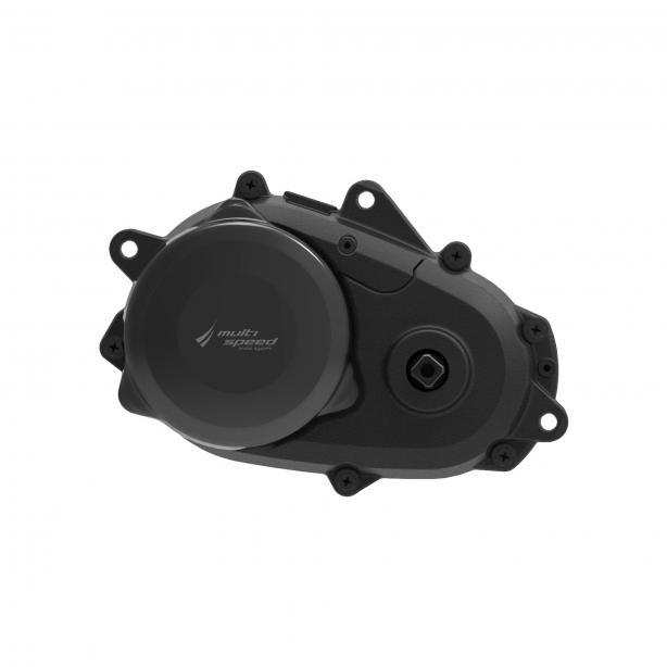 Panasonic 36 V Multi Speed: Der bereits 2017 vorgestellte Multi-Speed Motor bietet zwei integrierte elektronisch schaltbare Gangstufen. Bis zu 40 % mehr Bandbreite steht so zur Verfügung, was vor allem in der Ebene oder an extremen Steigungen zu tragen kommt. Auch hier sorgt die Front-Mount-Montage für kurze Kettenstreben und agiles Handling.