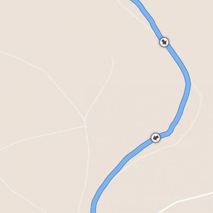 im dichten Wald gelegentlich 5-10m Off-Track