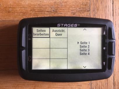 Via Stages Link läuft die Konfiguration unkompliziert und übersichtlich. Am Dash selbst muss erst ein Profil, dann eine Seite gewählt werden.