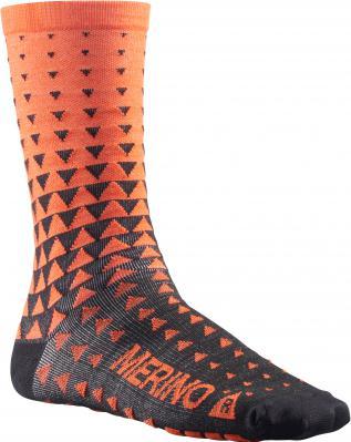 Ksyrium Merino Graphic Sock Puff Bill/Black: Merinowolle vermeidet Geruchsbildung auf natürliche Art.