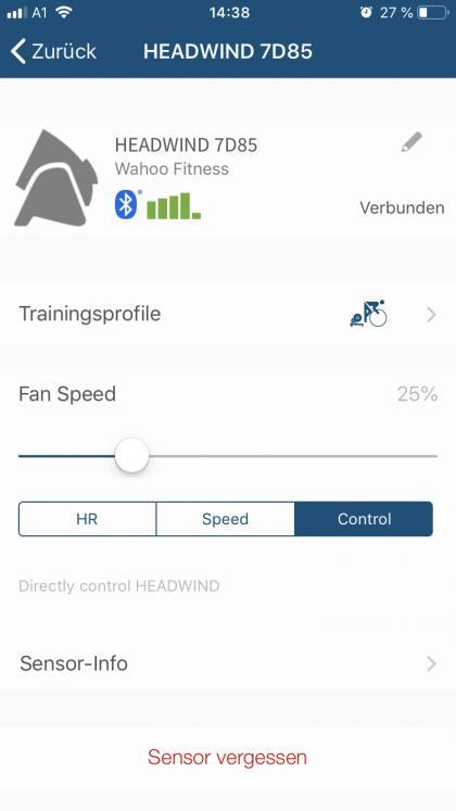 Manuelle Steuerung übers Handy per Bluetooth