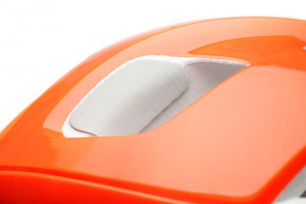 """Die sog. """"Eye Garage"""" sorgt für sicheren Sitz der Brille am Helm"""