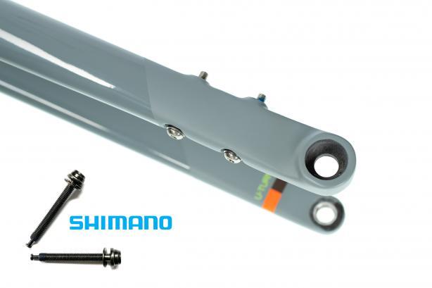 ... und vorne: 2x 43.2mm (Shimano part# Y8N208030).