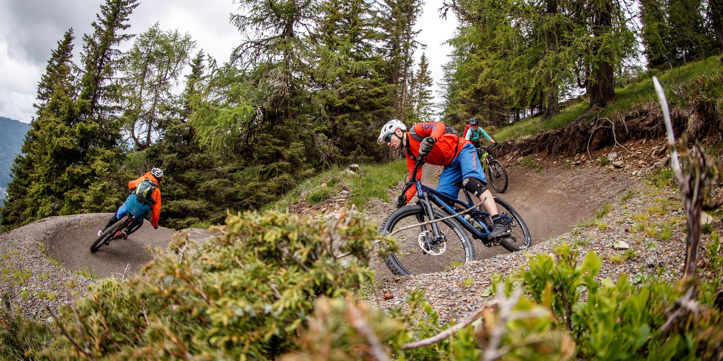Nockbiken, Trails liken