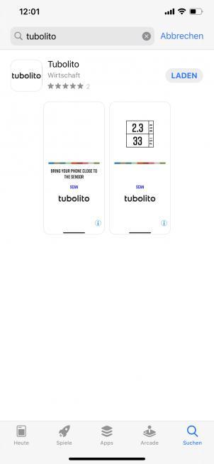 Tubolito App für iOS