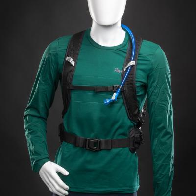 Bauch- und Brustgurt  sorgen für festen Sitz am Trail.