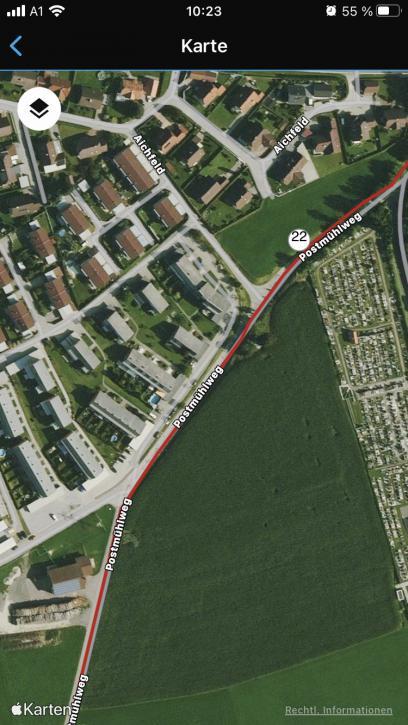 Auch im Freiland ist das GPS so gut wie immer absolut korrekt.
