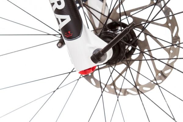 Top: Das T25-Werkzeug zum Öffnen der Steckachse und Schrauben am Rad