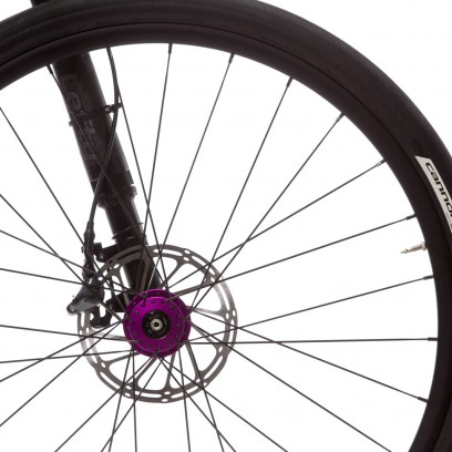 Laufräder: Lefty 50 Road Nabe,  Slate Disc 650b Felgen, geschweißt, 28 Loch