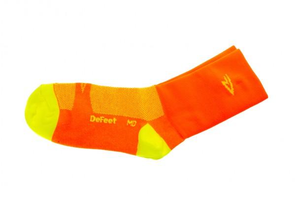 "DeFeet Aireator 5"" Hi-Vis Orange Endurance Socken"